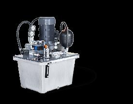 Hydraulik-Aggregat BAK 70 mit integrierten Öl-/Luftkühler